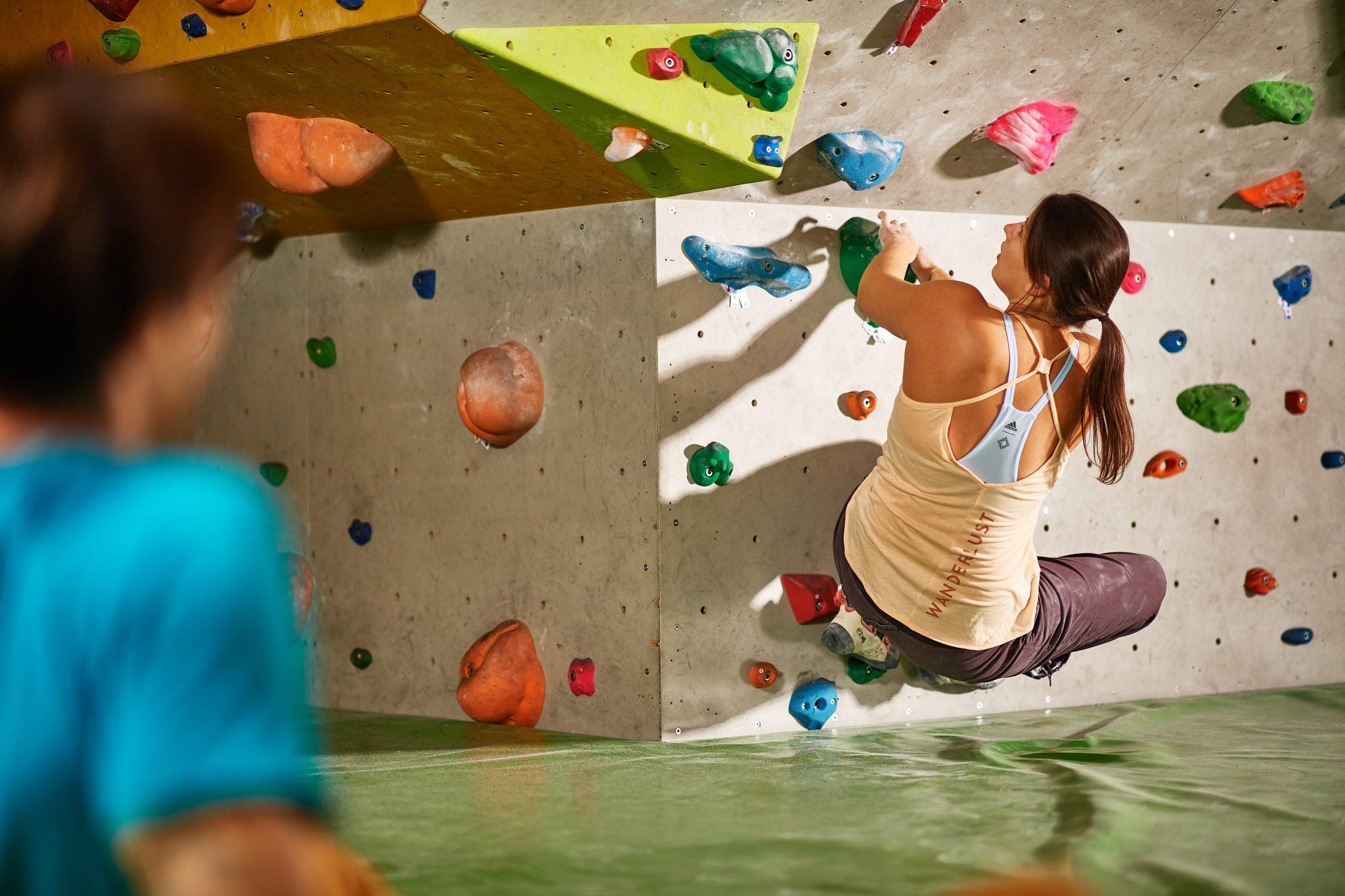 Klettern in der Boulderia